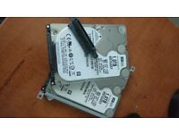 2x WESTERN DIGITAL 2.5inch 1TB HDD 5400RPM
