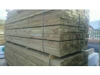 4x2 Sawn Pressure Treated/Tanalised Timber 3.6 meter / 12ft Deck joist / Fencing