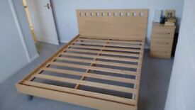 King size bed frame and headboard