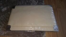 Single faux leather cream headboard (brandnew)