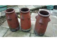 3 heritage chimney pots