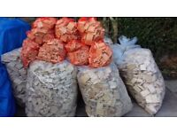 bags of wood kindleing ideal for wood burners and multi fuel stoves