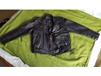 Real Leather Black Brando Jacket (used) size 38