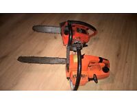 2 small chainsaws, spares or repair