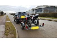 Double Erde motorbike trailer - excellent trailer