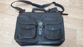 Land Rover Leather Satchel Weekend Away Bag