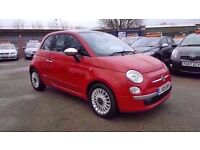 FIAT 500 1.2 LOUNGE 3 DOOR FULL LEATHER 2009 / 1 OWNER / 78K MILES / £30 TAX / FULL SERVICE HISTORY