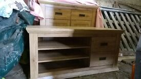 TV Cabinet, 2 side Cabinets and Sideboard - matching