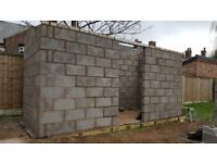 garden block built store room/block out house, built to youre specific measurements.