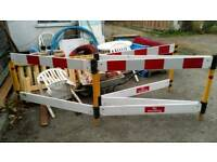 Plastic site barriers x4