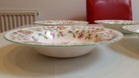 Minton Haddon Hall Large Rimmed Bowls x 6