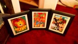 3 Childrens Animal Pictures