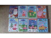 8 Peppa Pig DVDs