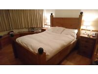 Bedframe - a beautiful double bedframe solid pine wood in great condition
