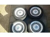 "15"" BBS RZ Alloy Wheels with caps - BMW E30 - 4x100 7x15"