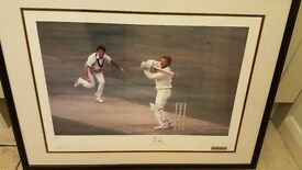 Ian Botham signed limited edition 1981 Ashes print with certificate