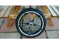 Harley streetglide enforcer wheel and tyre 2015 good condition
