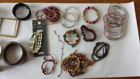 Collection of necklaces, bracelets and bangles