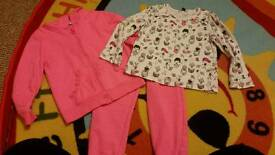 2 tracksuits and tops size 3-4yrs