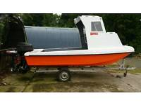 16 foot Wilson Croft fishing boat 90 hp for sale