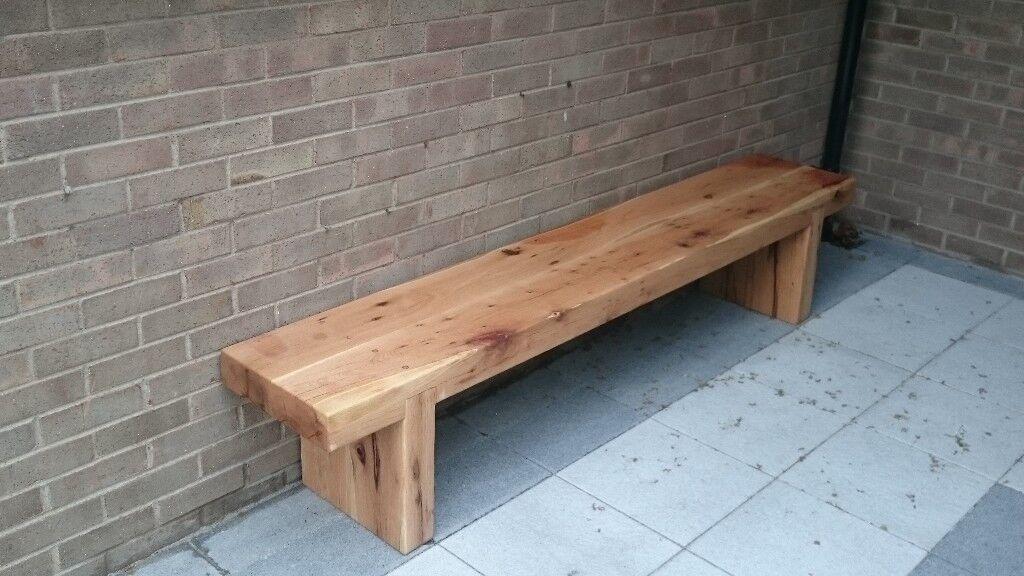 oak sleeper bench railway sleeper chair garden furniture summer