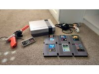 NES Console Bundle 6 Games and Zapper *REGION FREE*