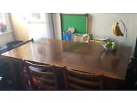Solid Dinning Table Very Good Strong Wood ( no Chair)