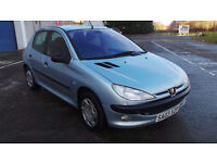 2003 PUEGEOT 206 MOT 3/2017 GREAT WEE CAR PART EX WELCOME CAN DELIVERY ANY WHERE IN UK