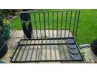 WROUGHT IRON FENCING x 2 PLUS POSTS x 2