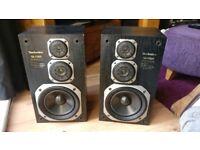 Vintage Technics SB-F860 3 Way Speakers.