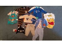 Bundle of 3-6mths baby boys clothes.