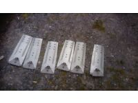 Transit roof rack plates 400mm