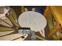 freesat box and dish