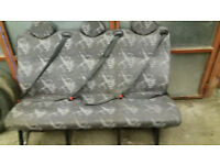 van 3 seater seat with seat belts,clean ready to fit to most vans and busses