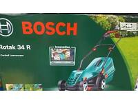 Bosch rotak 34r lawnmower boxed brand new unopened