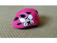 Girls Pink Cycling Helmet 45-50cm