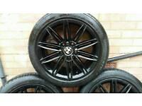"17"" gloss back BMW m sport wheels"