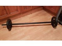 Vinyl barbell with 2 x 2.3kg plates