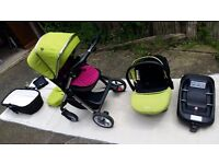 *** FOR SALE - SILVER CROSS PIONEER TRAVEL SYSTEM - LIME GREEN ***