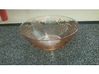 peachy glass bowl