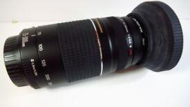 Canon zoom lens EF 75-300mm 1:4_5.6 withuv filter 58mm