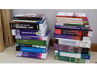 Law books - property, intensional, trusts, family, tort, contact, mental health, war, land,criminal