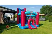 Large, heavy duty Bouncy Castle with slide and climbing wall