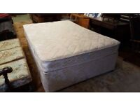 Double Divan Bed + Mattress in Excellent Condition