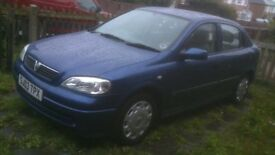vauxhall astra 1.6. one owner and 60,000 miles