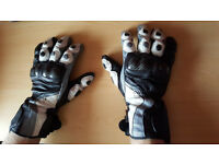 Texport Racer Leather Gloves with knuckle protection, size 2XL.