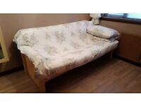 Solid beech hardwood double futon sofa bed