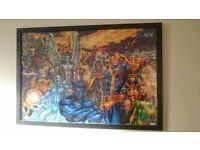 Large framed X-Men poster (marvel, xmen, art, print, comic, artwork)