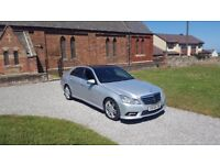 59 REG MERCEDES E250 CDI AMG-SPORT BLACK-ROOF FSH 2-KEYS LEATHER TOP-SPEC OUTSTANDING FREE-DELIVERY