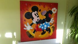 Mickey & Minnie Canvas picture Handmade